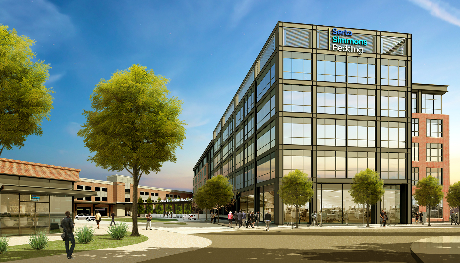Serta Simmons Headquarters rendering